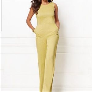 Eve Mendes Yellow Jumpsuit